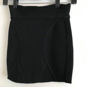 Silence + Noise Black Ribbed Knit Mini Tube Skirt